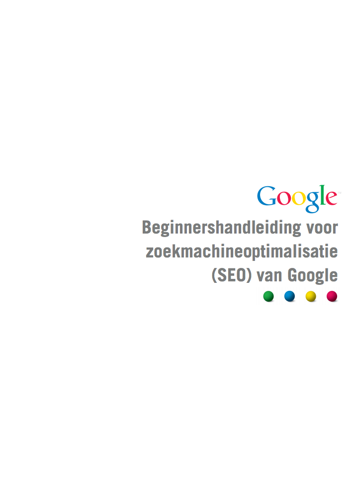 Google SEO starters manual