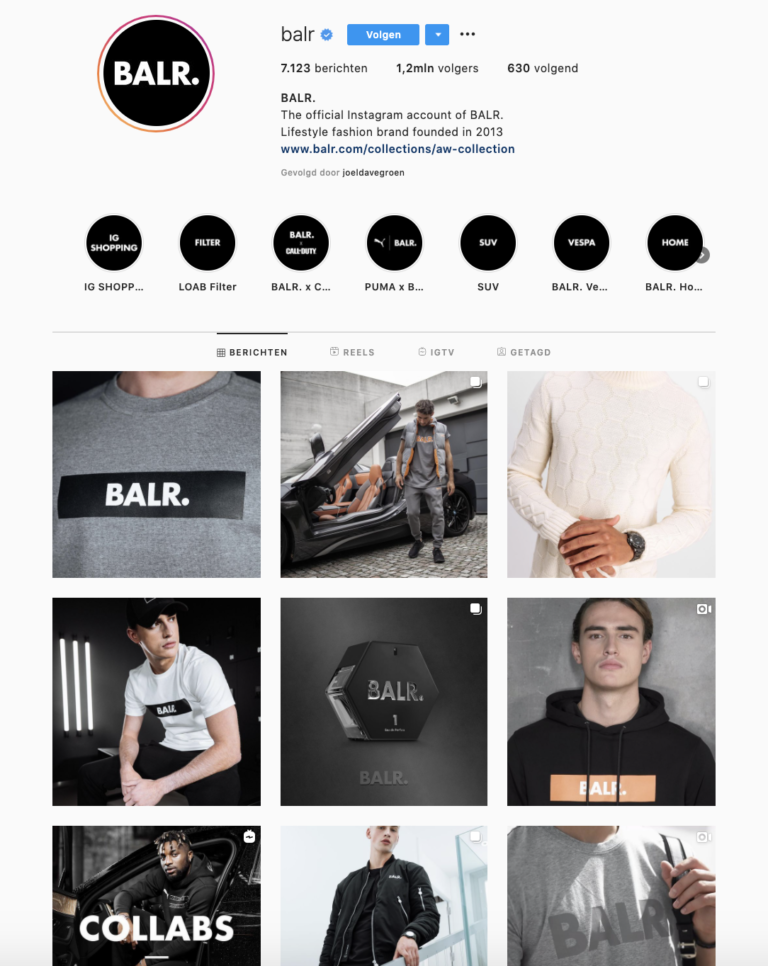 BALR. social commerce