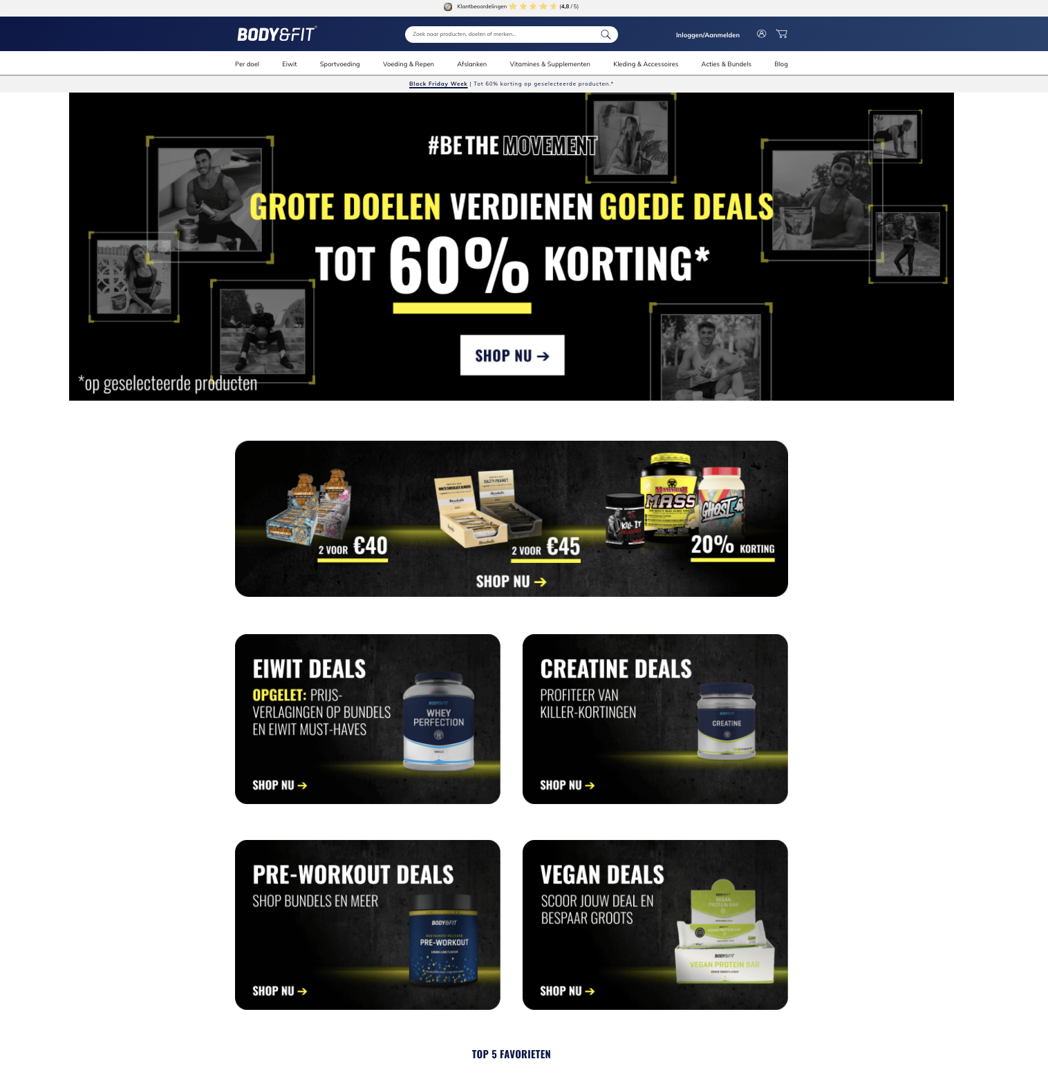 body&fit ecommerce